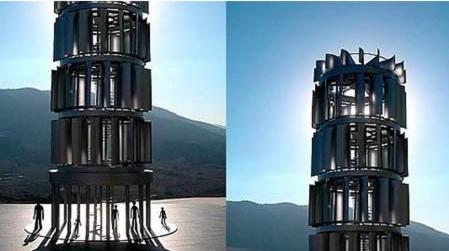 Фото - Двухроторная ветроэнергетическая установка